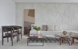 Cobertura atmosfera projeto de arquitetura residencial sala de estar