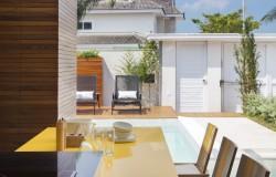 Projeto Leila Dionizio - blue house projeto de arquitetura em área externa com piscina