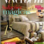 Leila Dionizios na capa da revista de decoração Viver Bem