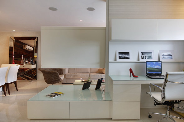 Sala Tv Com Escritorio ~ Decoração de Escritório e Sala – A Arte de integrar ambientes