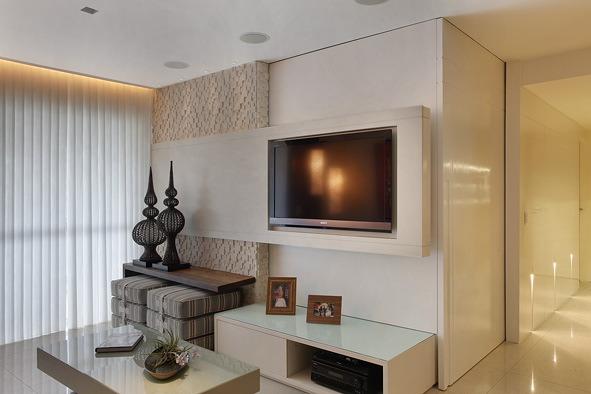Como Decorar Sala Com Tv Na Parede ~ Decoração de Escritório e Sala – A Arte de integrar ambientes
