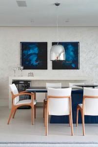 Projeto de Decoração de Sala de Jantar em Tons de Azul