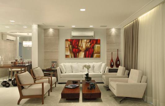Sala do apartamento do Condomínio Atmosfera 2| Leila Dionízios Arquitetura