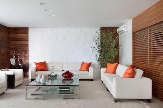 Sala do Apartamento do Condomínio Saint Bart | Leila Dionízios Arquitetura