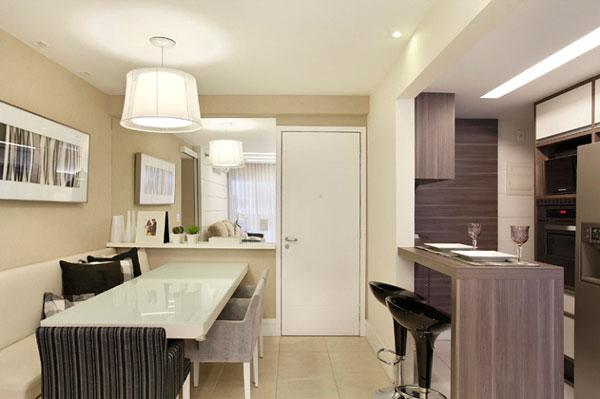 Ideias de decora o para apartamentos pequenos for Mesas para apartamentos pequenos