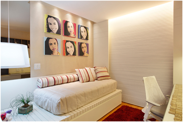 decoracao de interiores quartos femininos:Decoração de Quarto Feminino