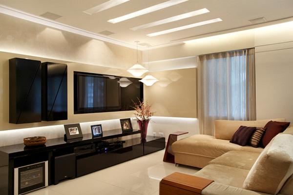 Decora o de salas modernas for Salas en l modernas