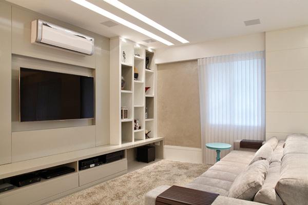 Decora o de salas modernas for Salas modernas pequenas para apartamentos
