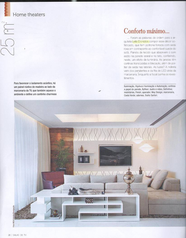 Revista De Decoracao De Sala De Tv ~ Projetos para Salas de TV