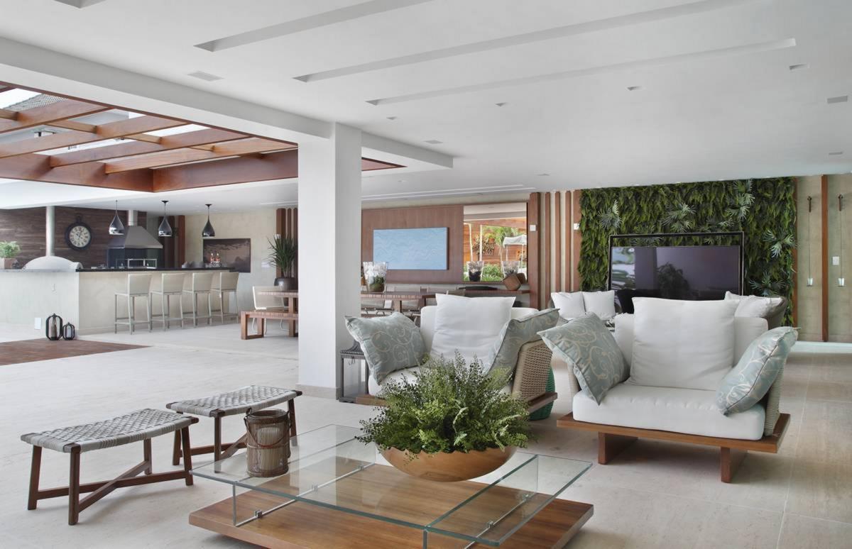 #644939 Projeto de Arquitetura para Casa de Luxo na Barra da Tijuca 1200x774 px Projetos De Cozinha Externa_5445 Imagens
