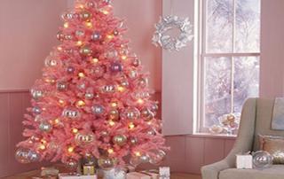 Decoração de natal rosa