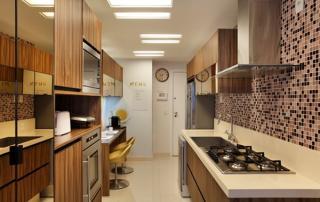 Arquitetura residencial cozinha planejada compacta