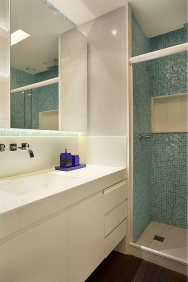 Como decorar banheiros pequenos -> Loucas Banheiro Pequeno