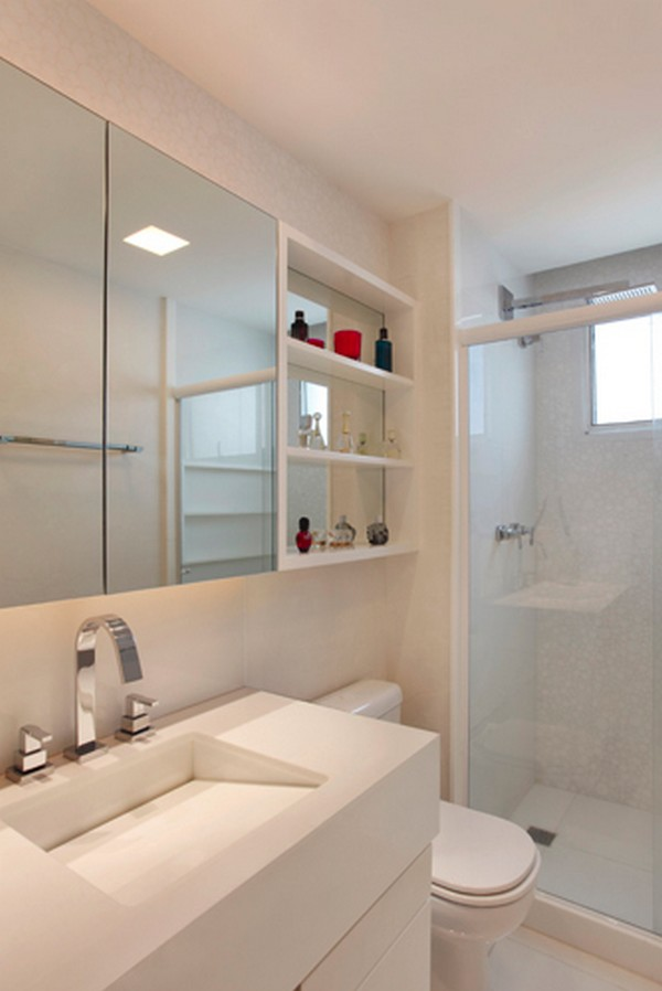 decoracao de ambientes pequenos banheiros:Para decorar banheiros pequenos , as lâmpadas leds são as melhores
