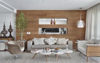 Arquitetura residencial decoração em sala de estar