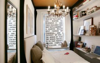 Arquitetura residencial em quarto pequeno