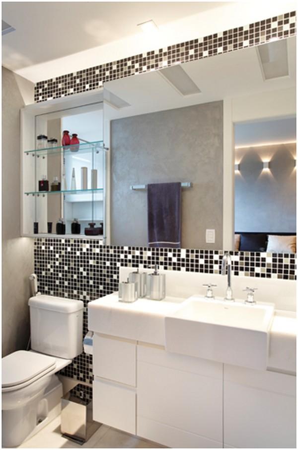 Aproveite o espaço com marcenaria no seu banheiro planejado